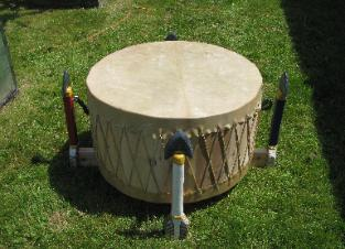Commissioned for powwow drumgroup