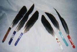 L'Eagle beaded smudge feathers  $30.00