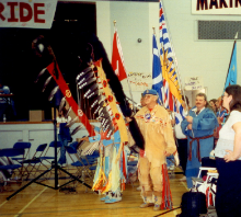 Grand Entry 1999 Powwow Delview Secondary High School Delta BC